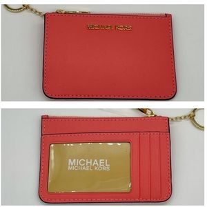 Michael Kors Small TZ Coinpouch with ID Grapefruit